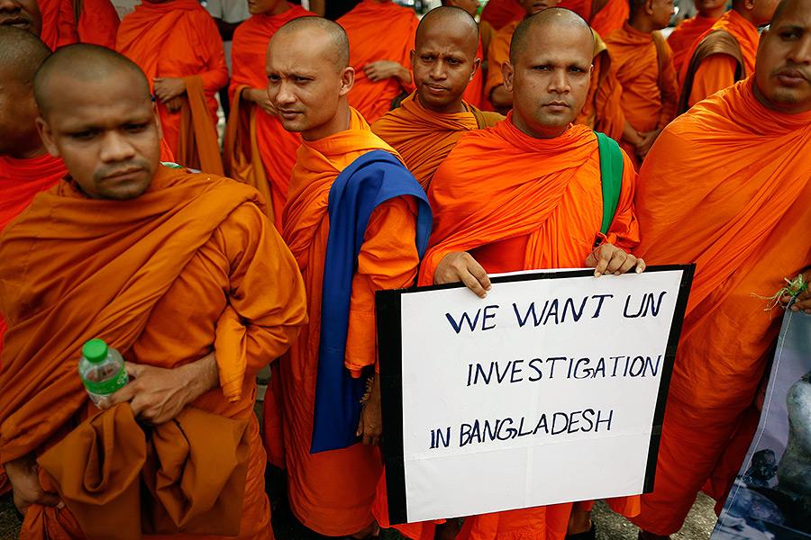 Буддисты в Тайланде против насилия в Бангладеш