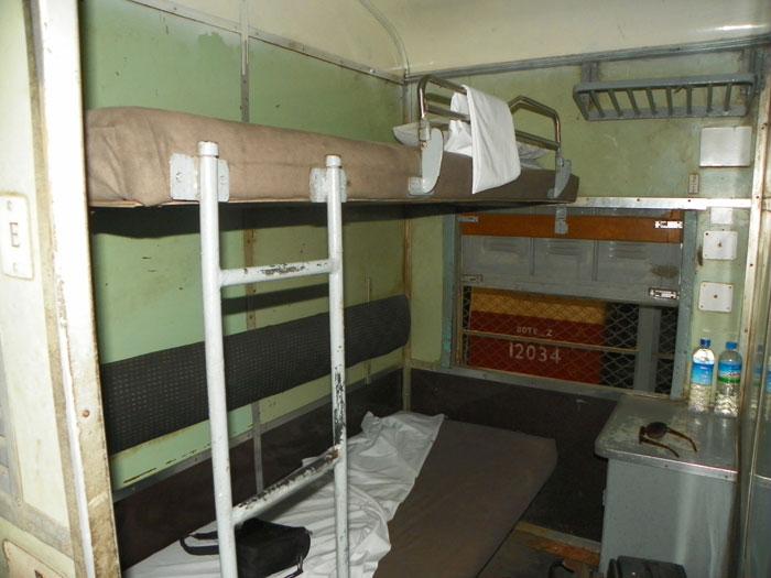 Спальный вагон в Мьянме