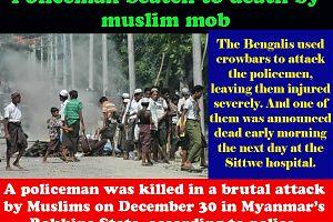 В Мьянме толпой мусульман убит полицейский