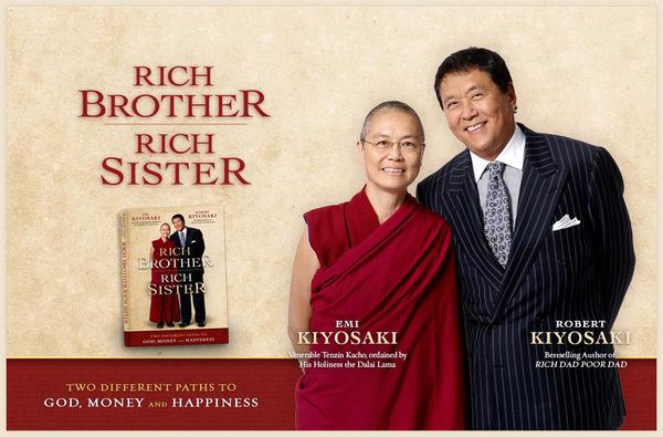 Брат и сестра Кийосаки объединяют буддизм с бизнесом