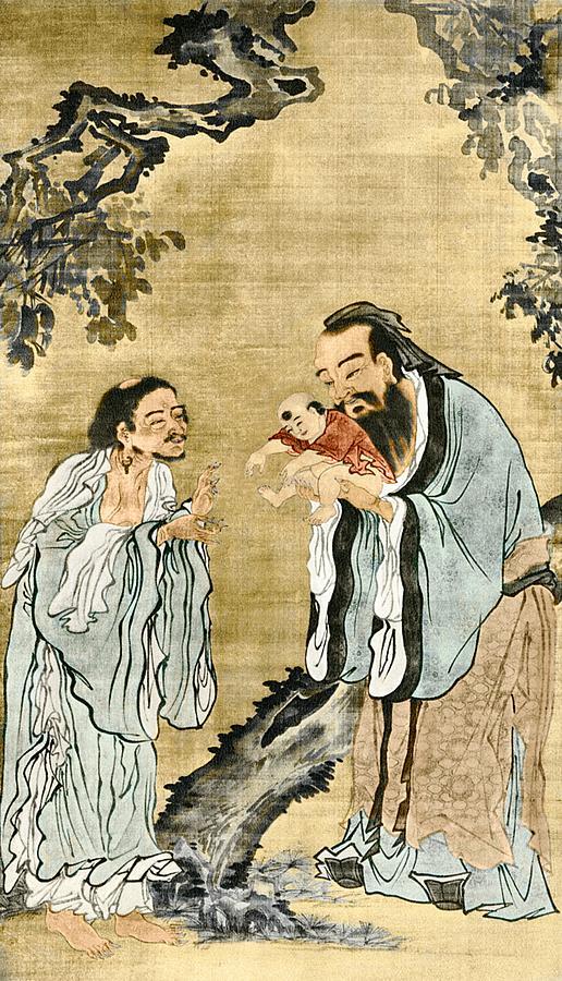 Будда, Конфуций, который держит на руках Лао-Цзы