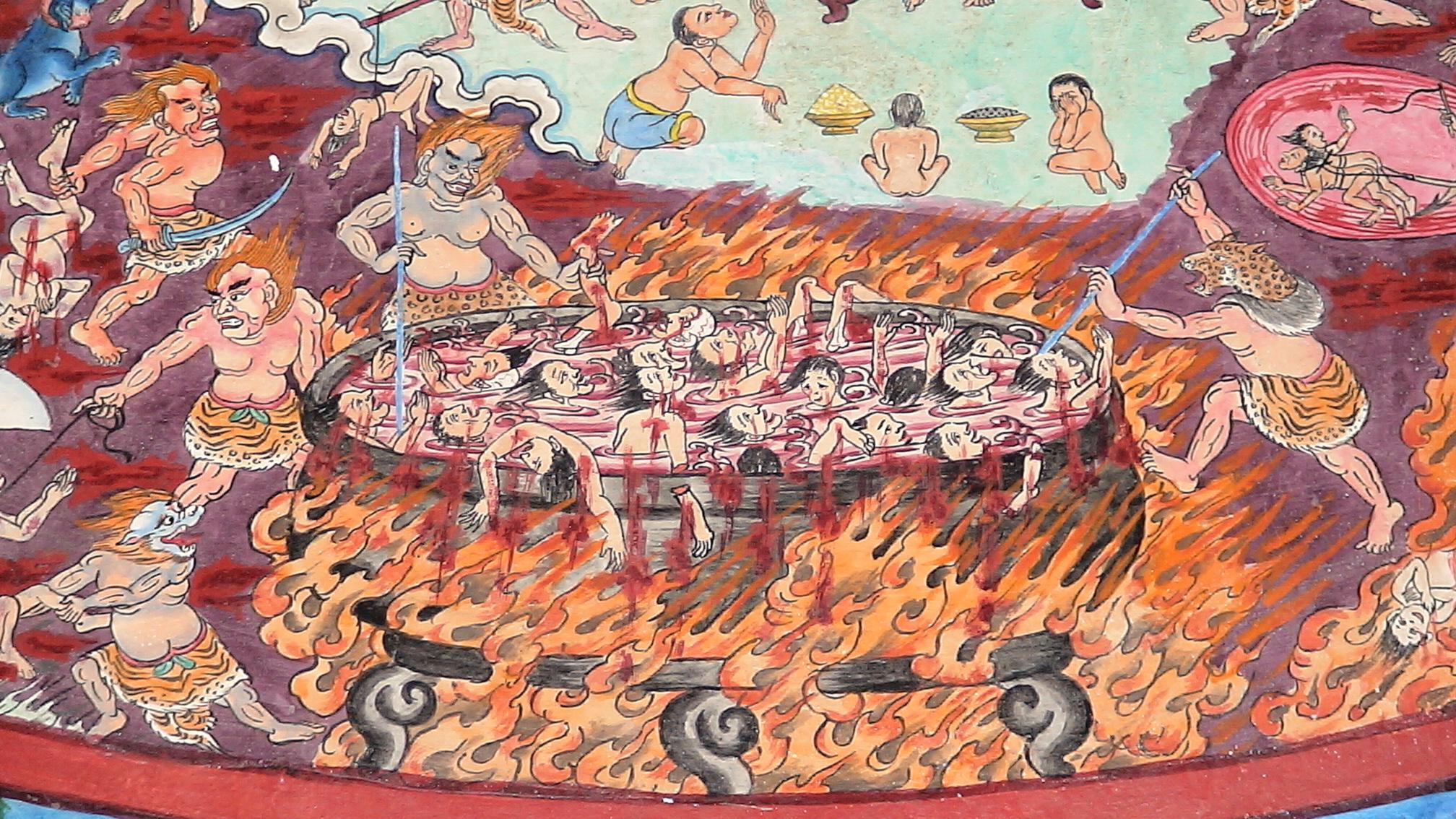 Сутта о тьме: кто и как попадает в рай или ад, буддизм